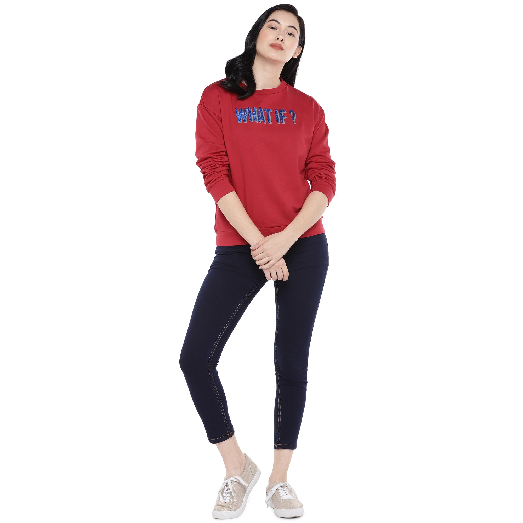 Red Printed Sweatshirt-4