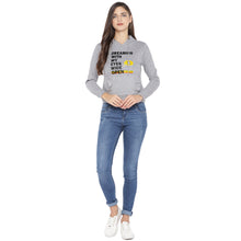Load image into Gallery viewer, Grey Printed Hooded Sweatshirt-4