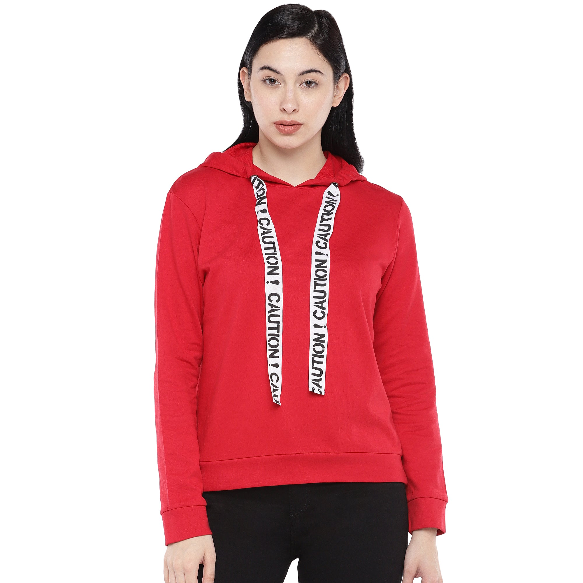 Red Solid Sweatshirt-1