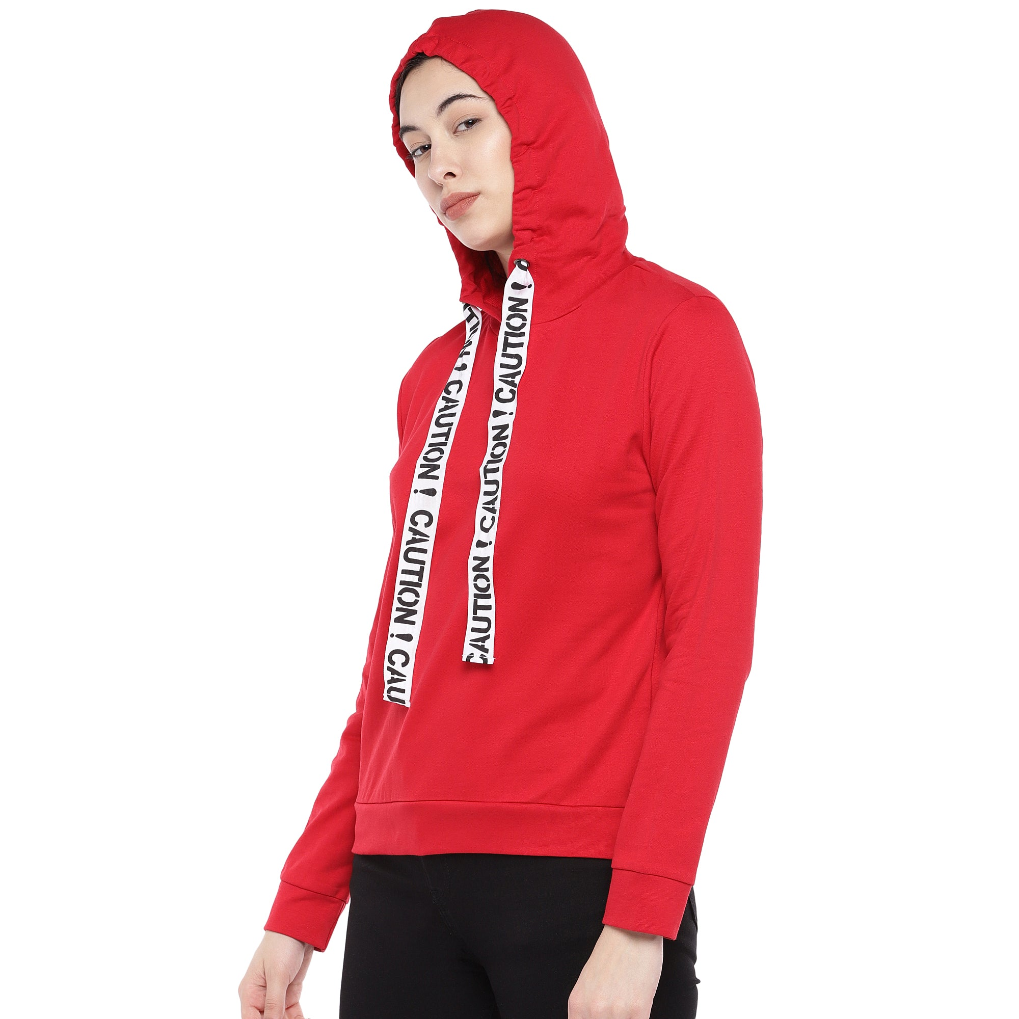 Red Solid Sweatshirt-2