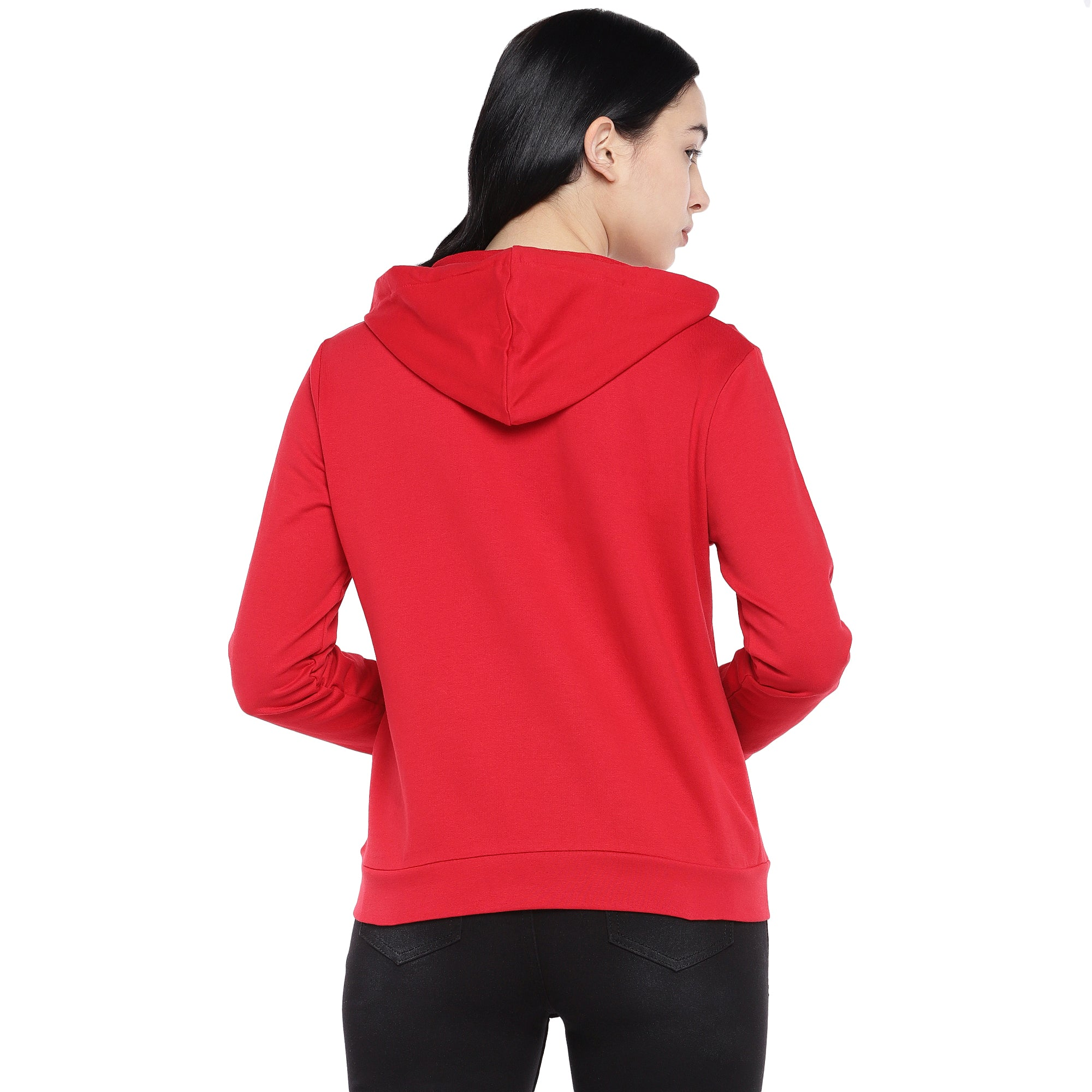 Red Solid Sweatshirt-3