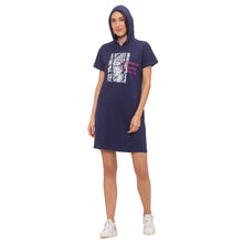 Load image into Gallery viewer, Globus Navy Blue Printed Dress-6