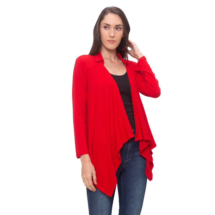 Globus Red Solid Jacket-1