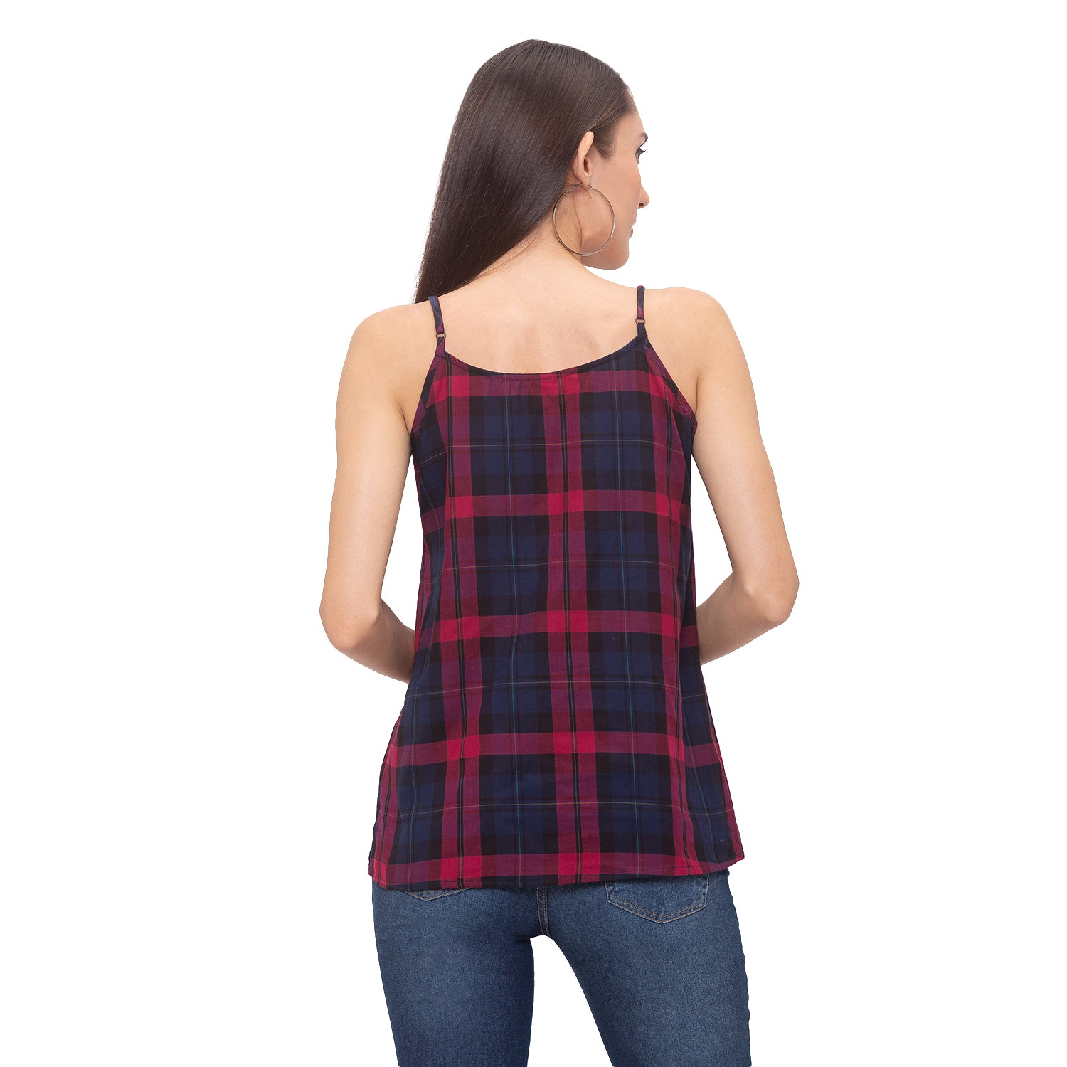 Globus Red Checked Top-3
