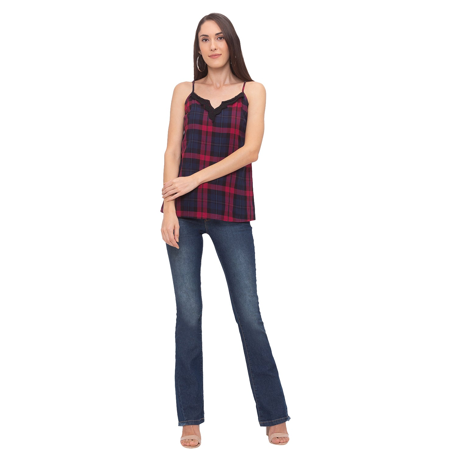 Globus Red Checked Top-6