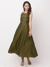 Load image into Gallery viewer, Globus Olive Embellished Casual Kurta-5