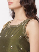 Load image into Gallery viewer, Globus Olive Embellished Casual Kurta-4