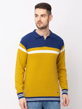 Load image into Gallery viewer, Globus Mustard Colourblocked Pullover Sweater-1