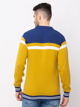 Load image into Gallery viewer, Globus Mustard Colourblocked Pullover Sweater-3