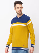 Load image into Gallery viewer, Globus Mustard Colourblocked Pullover Sweater-2