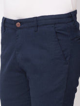 Load image into Gallery viewer, Globus Navy Blue Checked Chinos-4