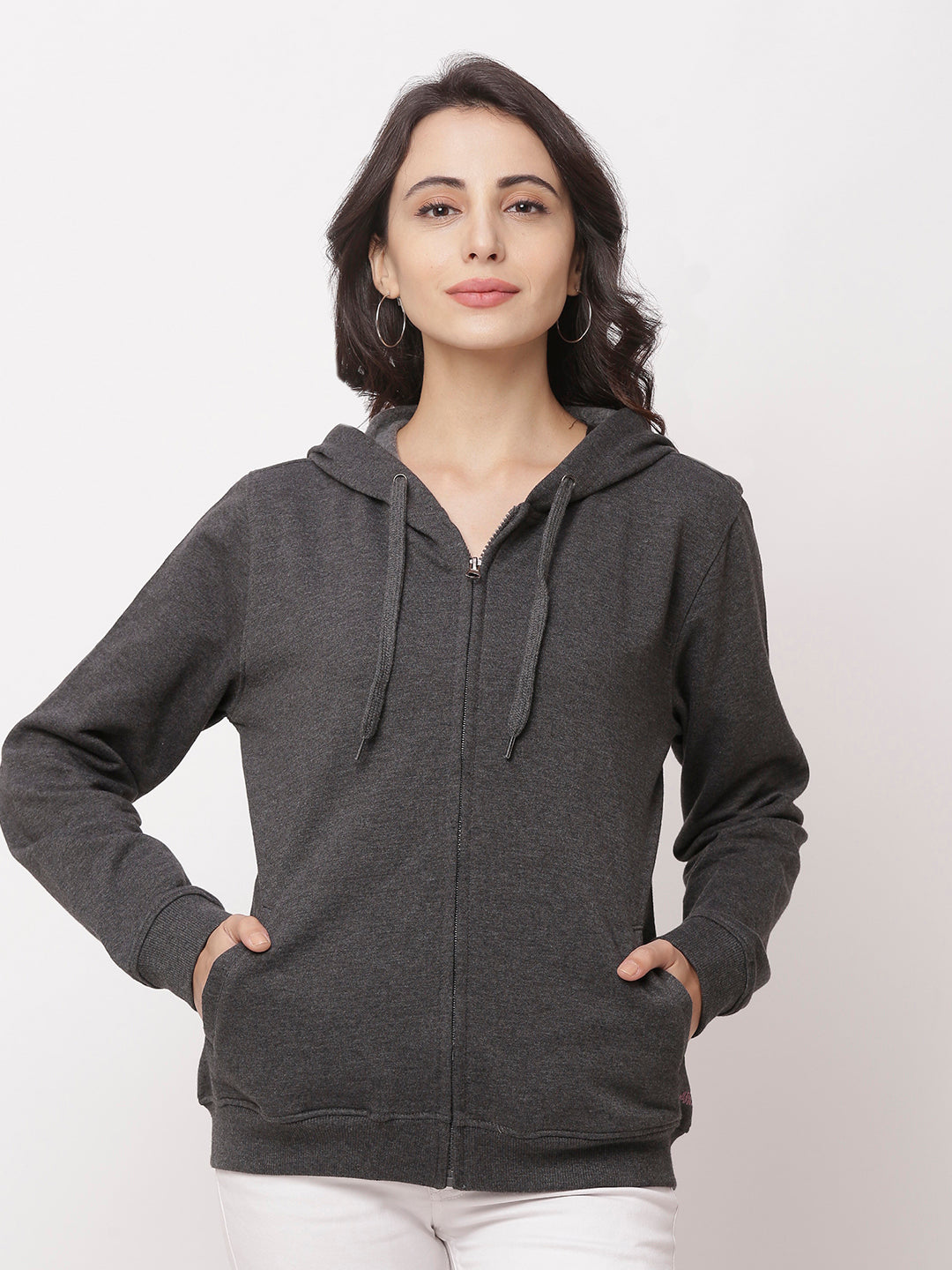 Globus Charcoal Mel Solid Jacket-1