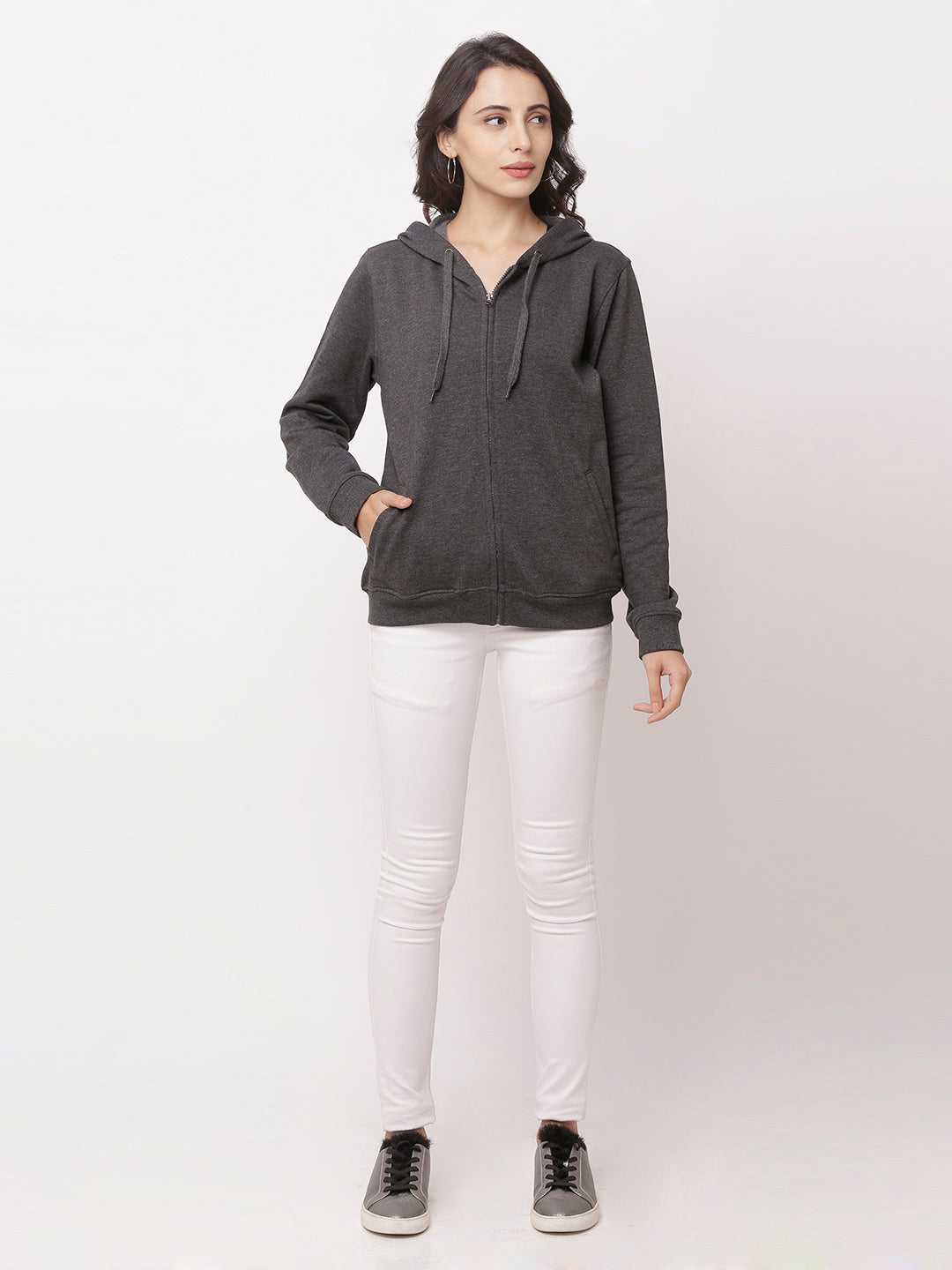 Globus Charcoal Mel Solid Jacket-5