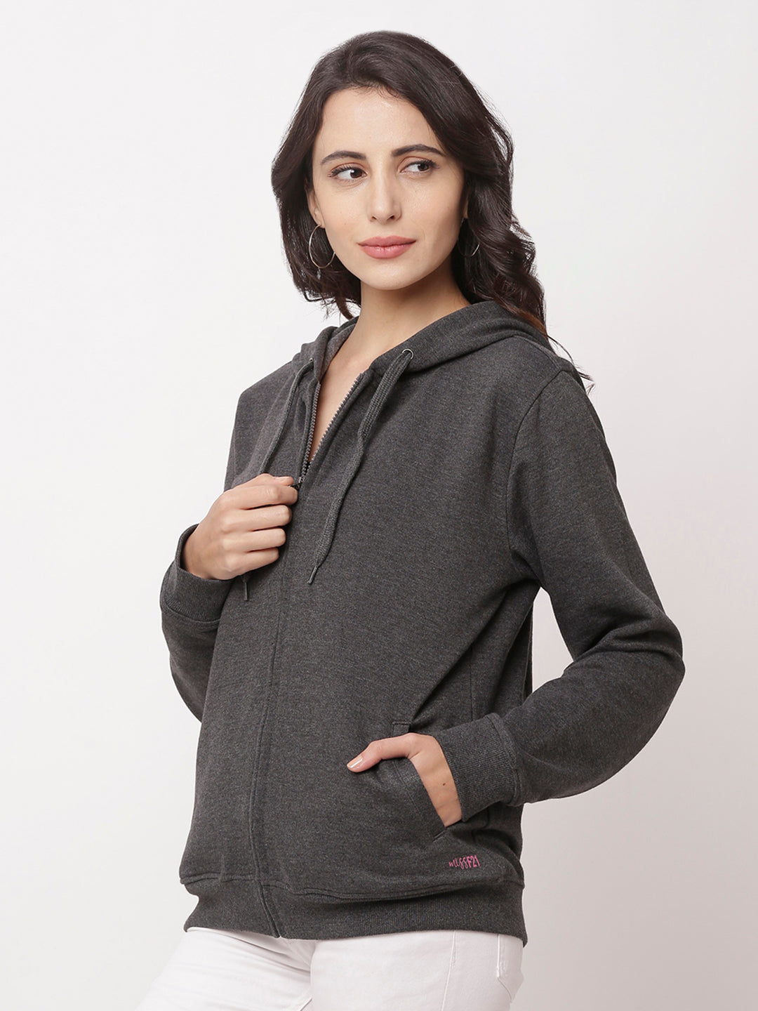 Globus Charcoal Mel Solid Jacket-2