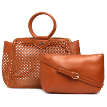 Load image into Gallery viewer, Globus Tan Laser Cut Fashion Bag-1