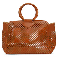 Load image into Gallery viewer, Globus Tan Laser Cut Fashion Bag-3