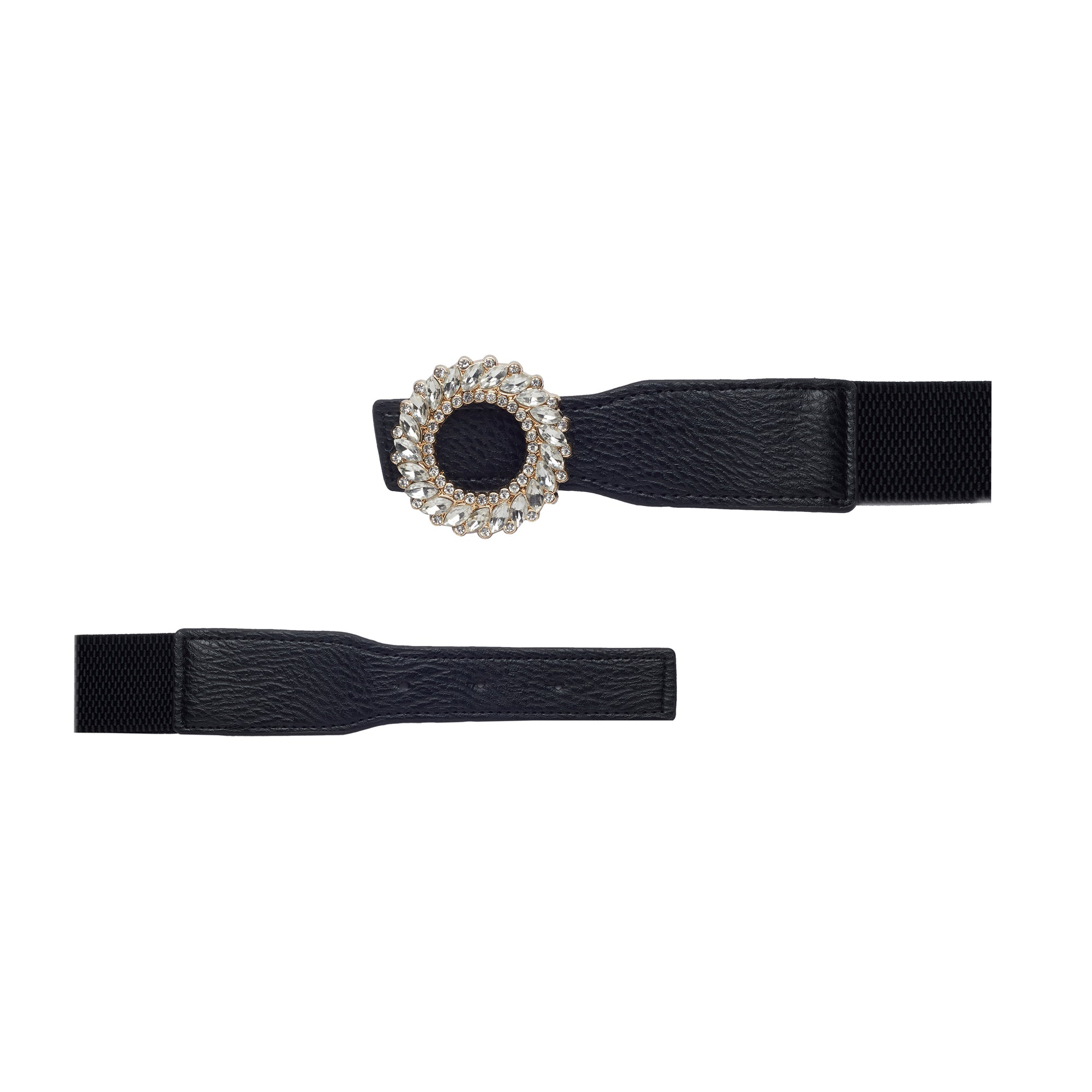 Globus Black Embellished Belt-3