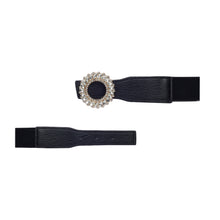 Load image into Gallery viewer, Globus Black Embellished Belt-3