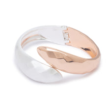Load image into Gallery viewer, Globus Rosegold and Silver Cuff-1