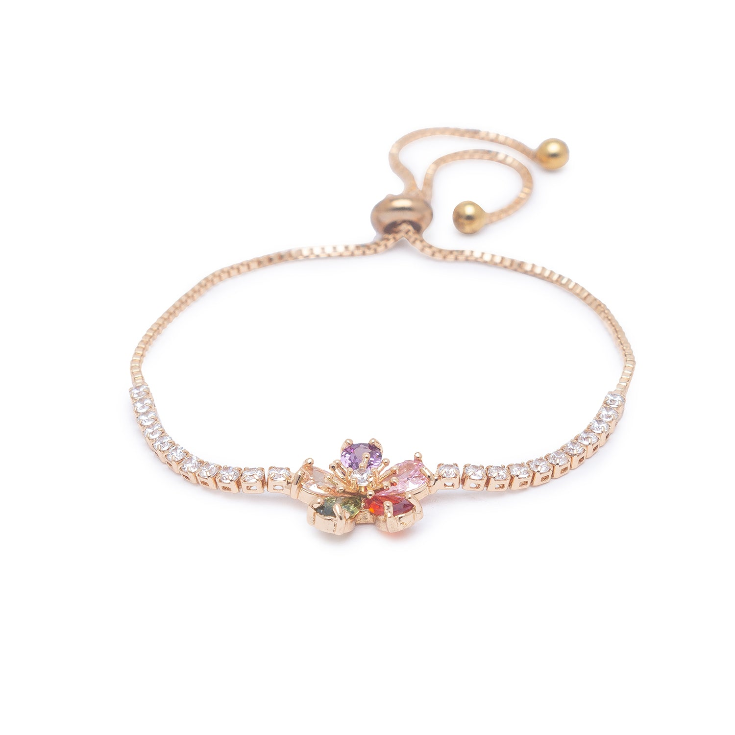 Globus Gold and Multi Friendship Bracelet-1