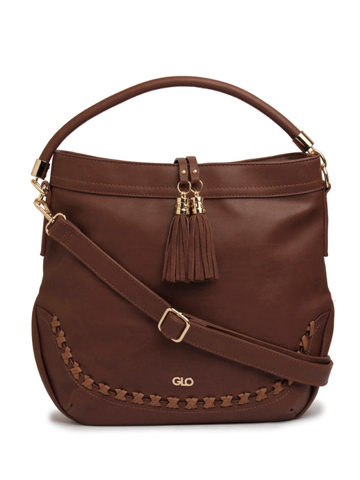 Globus Dark Brown Hobo Bag-1