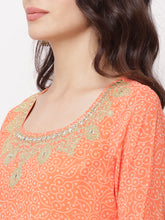Load image into Gallery viewer, Globus Orange Embroidered Kurta-4