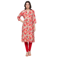 Load image into Gallery viewer, Globus Beige Printed Kurta-1