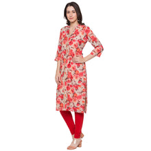Load image into Gallery viewer, Globus Beige Printed Kurta-2