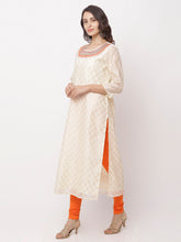 Load image into Gallery viewer, Globus White Embroidered Kurta-2
