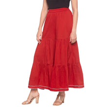 Load image into Gallery viewer, Red Solid Sharara Pants-2