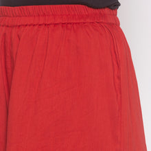 Load image into Gallery viewer, Red Solid Sharara Pants-5