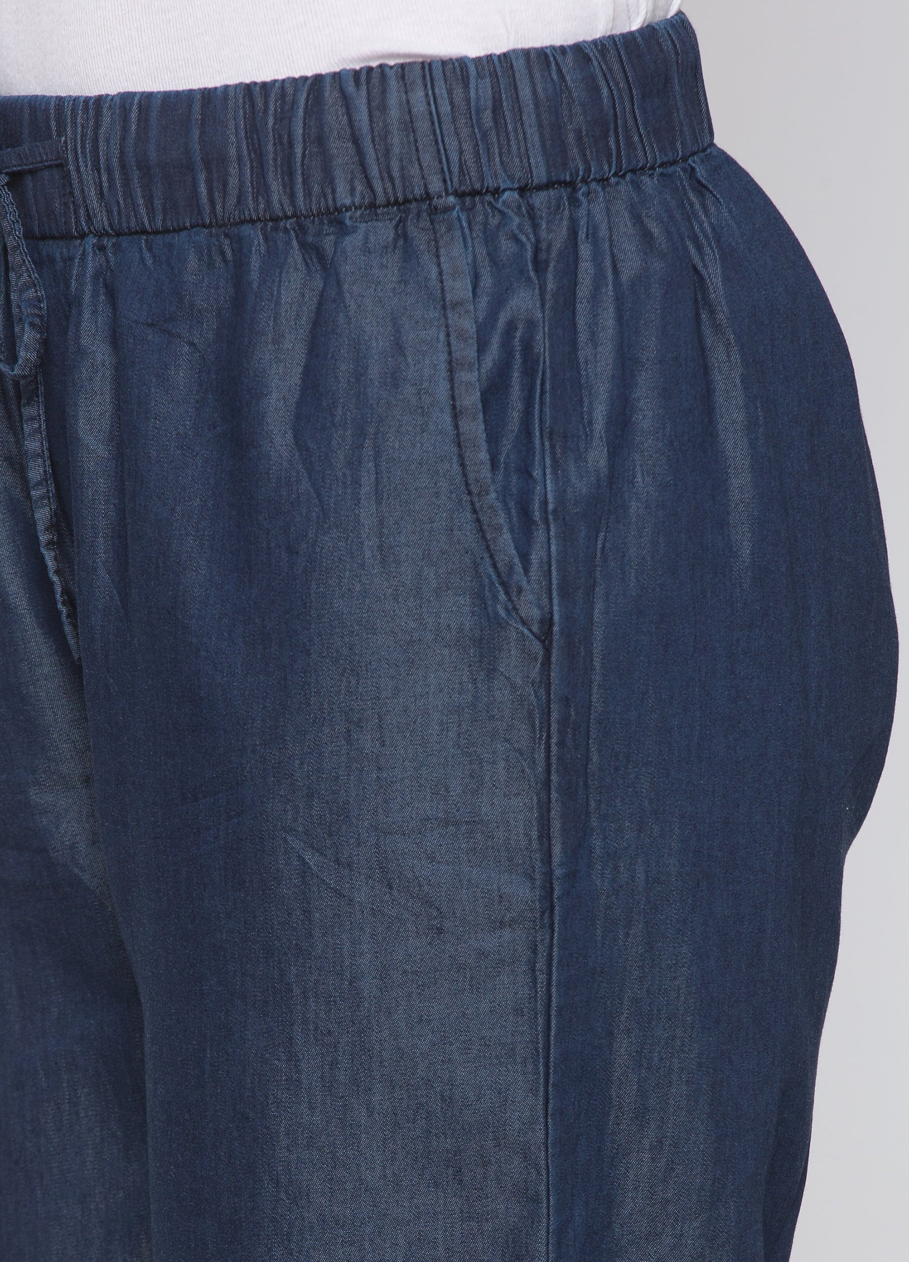 Globus Blue Solid Joggers-5