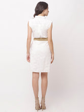Load image into Gallery viewer, Globus White Self Design Casual Dress-3
