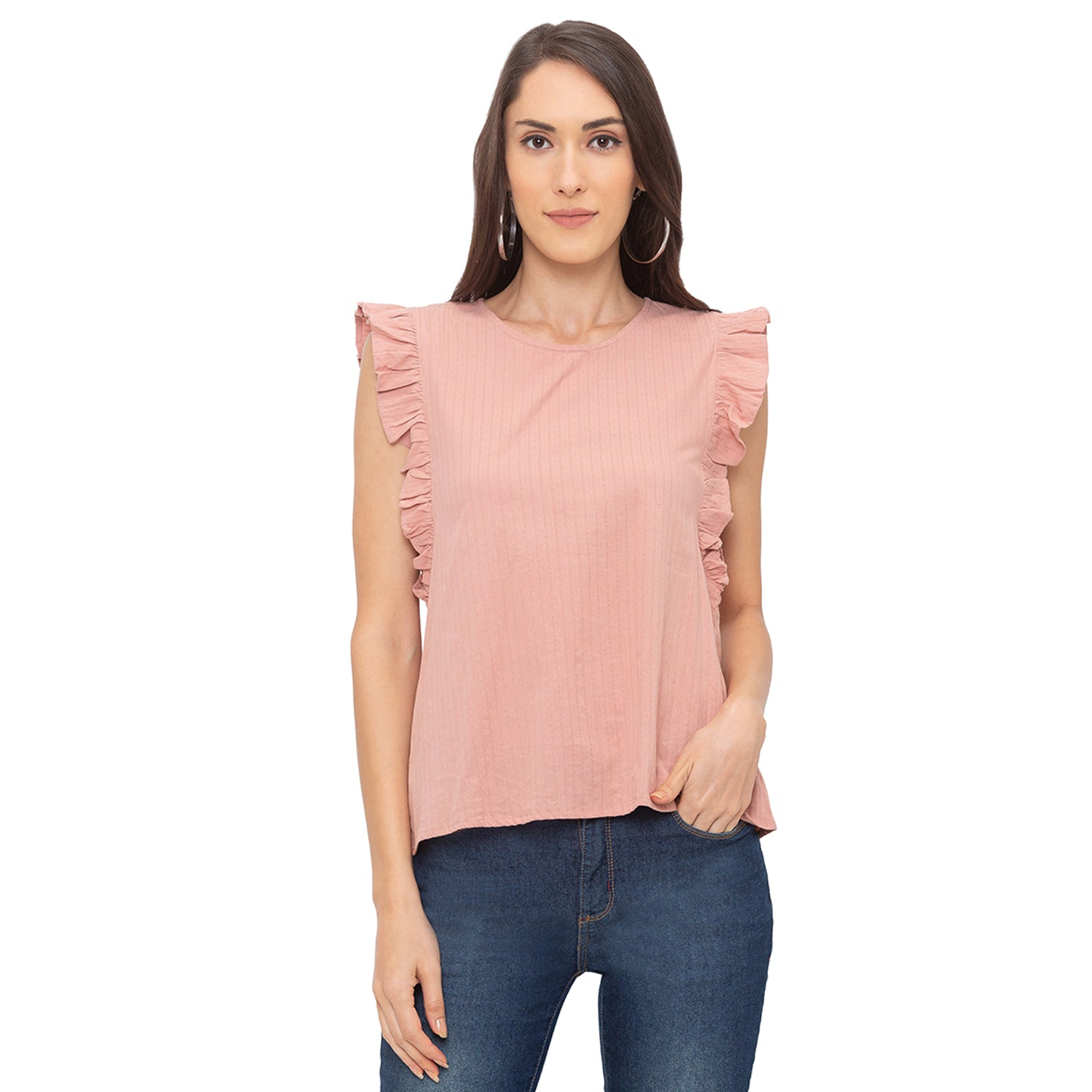 Globus Pink Striped Top-1