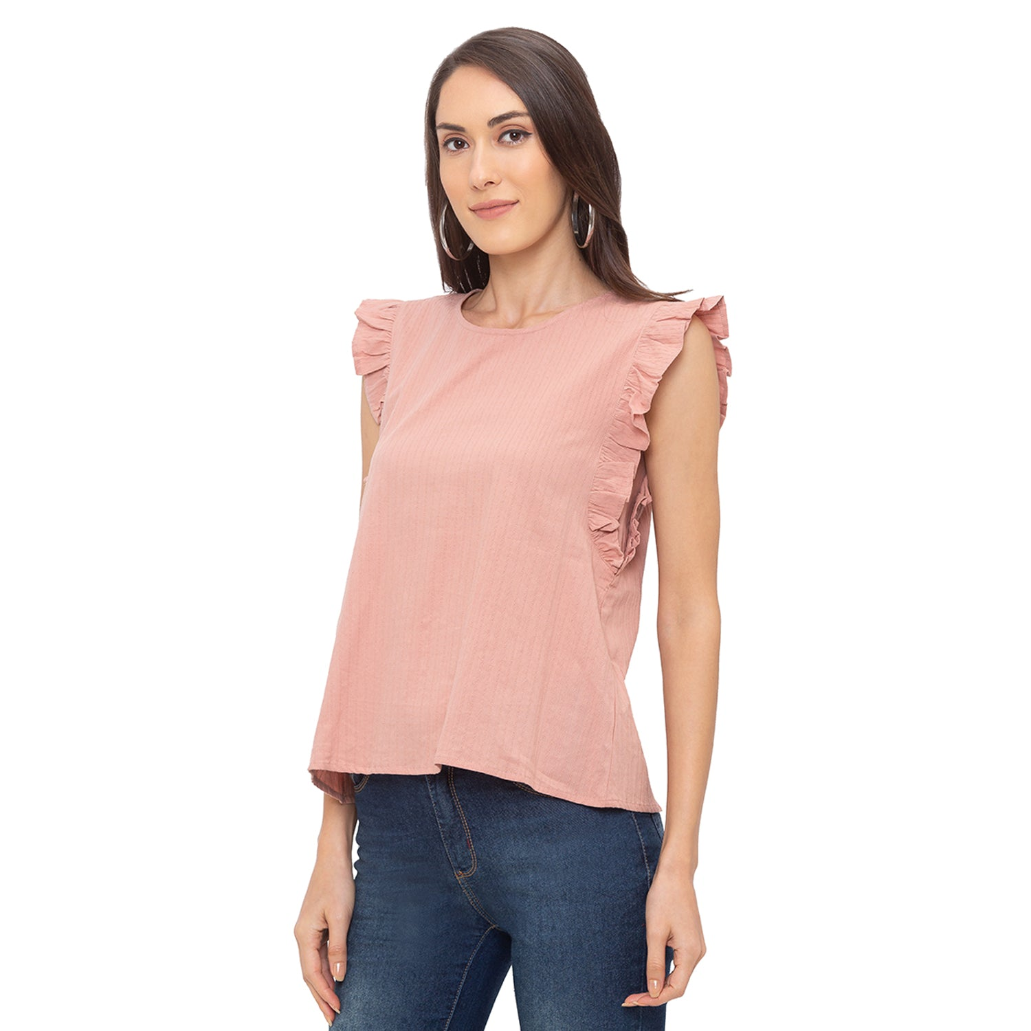 Globus Pink Striped Top-2