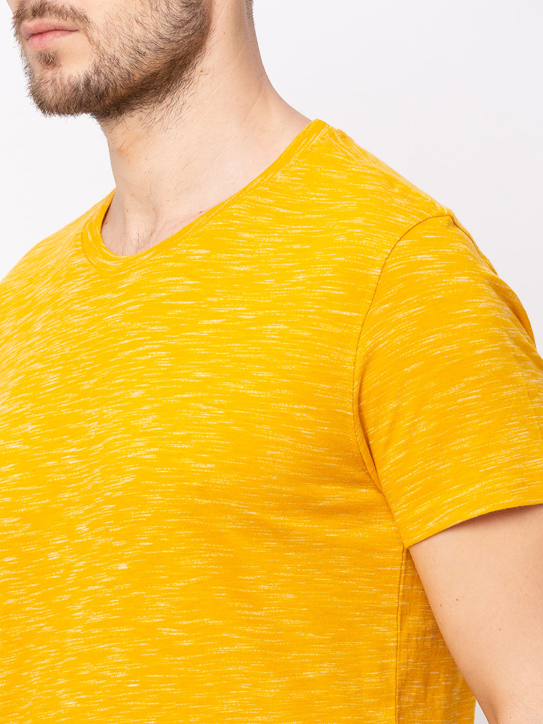 Globus Yellow Solid T-Shirt-4