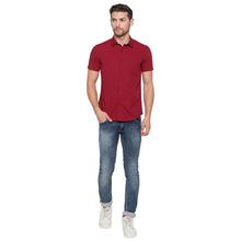 Load image into Gallery viewer, Globus Maroon Solid Shirt4