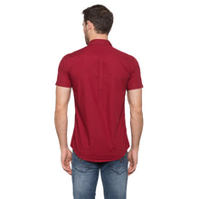 Load image into Gallery viewer, Globus Maroon Solid Shirt3