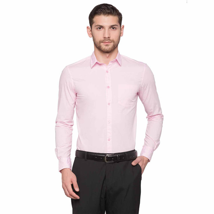 Globus Pink Solid Shirt1