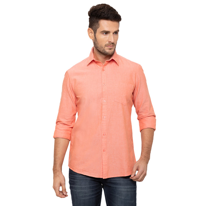 Globus Peach Solid Shirt-1
