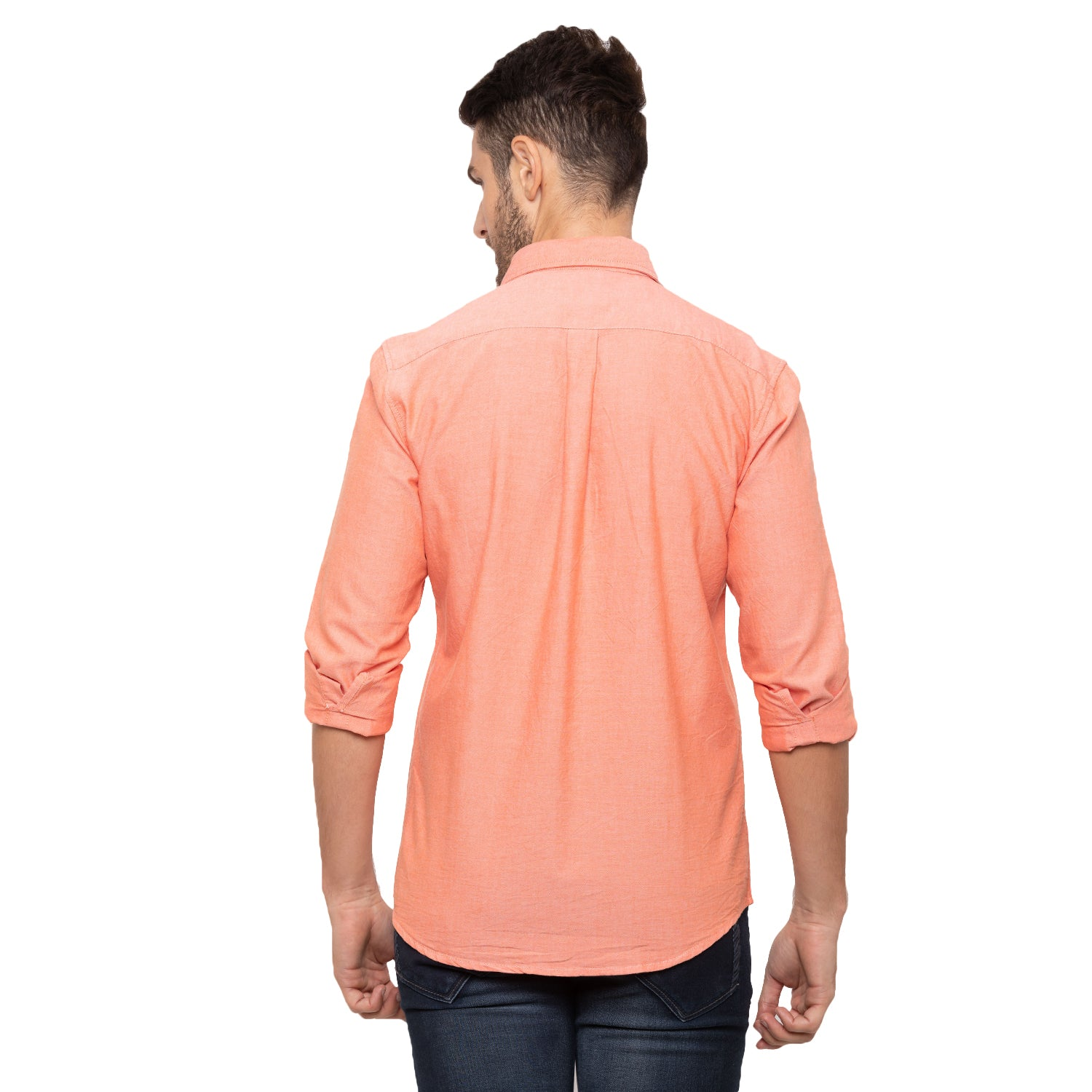 Globus Peach Solid Shirt-3
