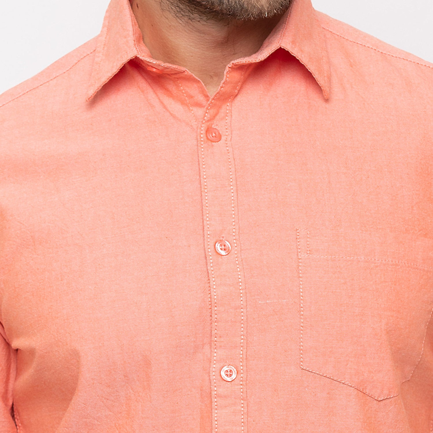 Globus Peach Solid Shirt-5