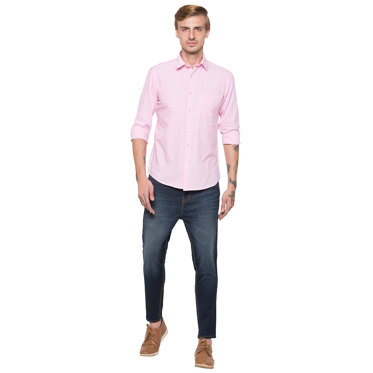 Globus Pink Solid Shirt-4
