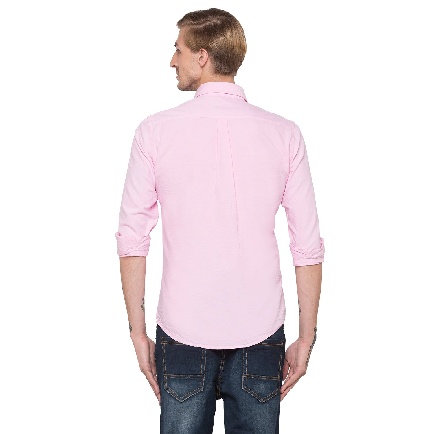 Globus Pink Solid Shirt-3