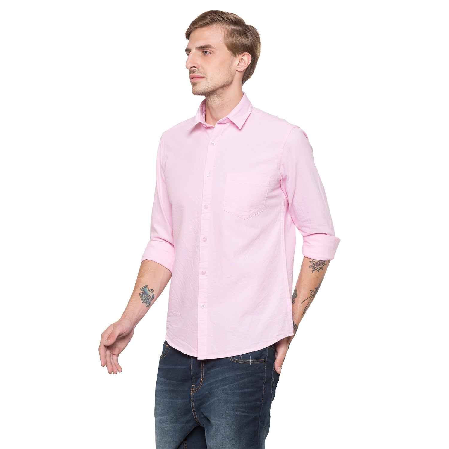 Globus Pink Solid Shirt-2