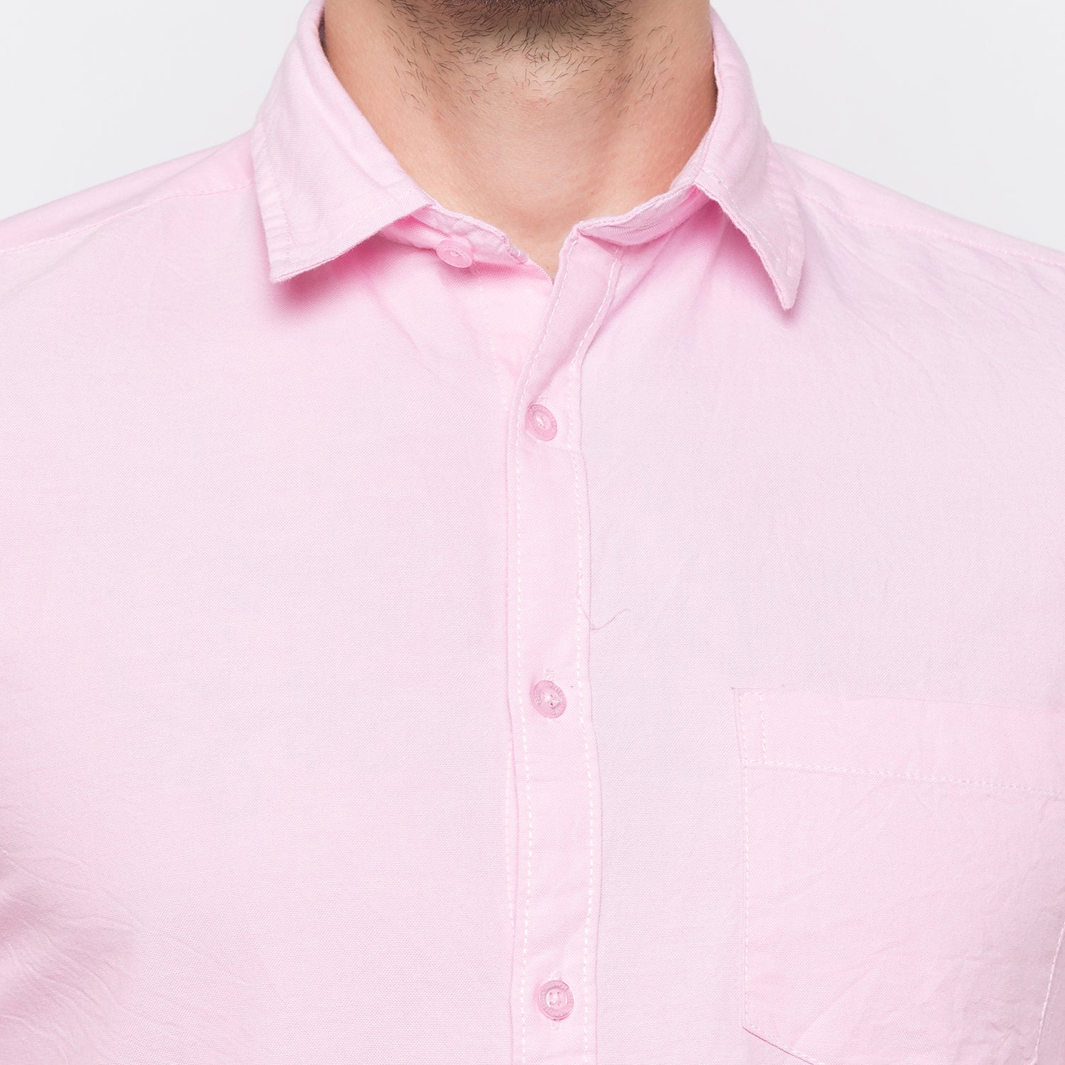 Globus Pink Solid Shirt-5