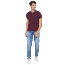 Load image into Gallery viewer, Wine Solid T-Shirt-4
