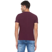 Load image into Gallery viewer, Wine Solid T-Shirt-3