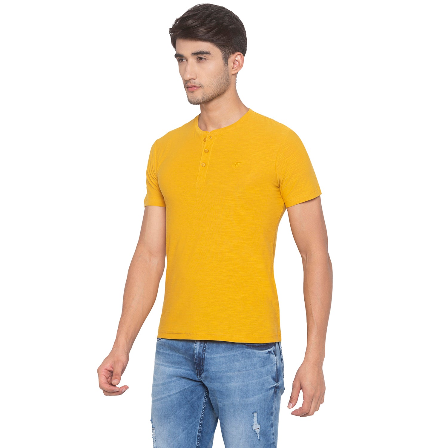 Yellow Solid T-Shirt-2