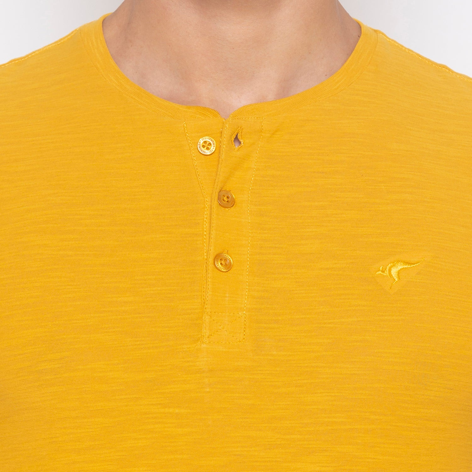 Yellow Solid T-Shirt-5
